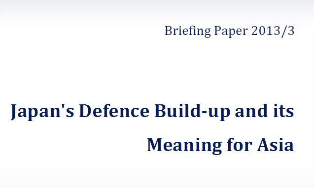 Japan's Defence Build-up and its Meaning for Asia (September 2013)