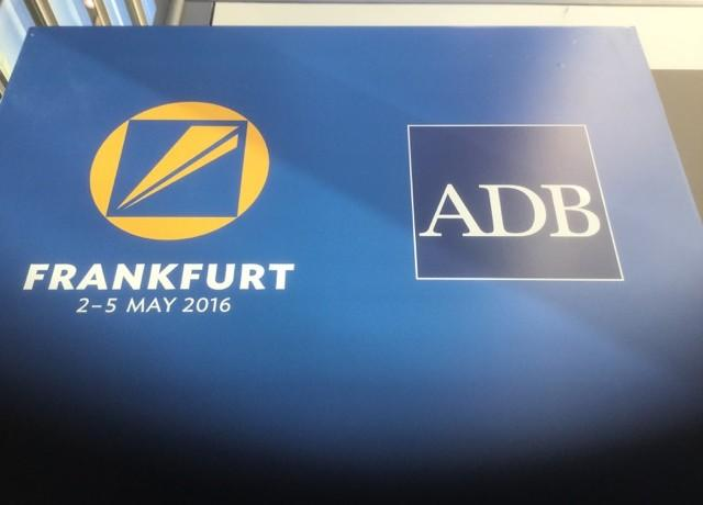 Notes on the 49th Annual Meeting of the Asian Development Bank, Frankfurt (May 2016)