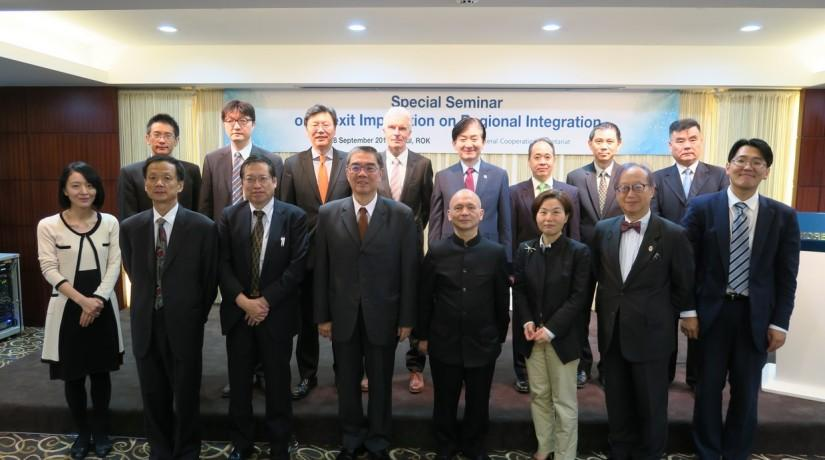 EIAS Participates in a Special Conference on Brexit organised by the Trilateral Cooperation Secretariat, Seoul
