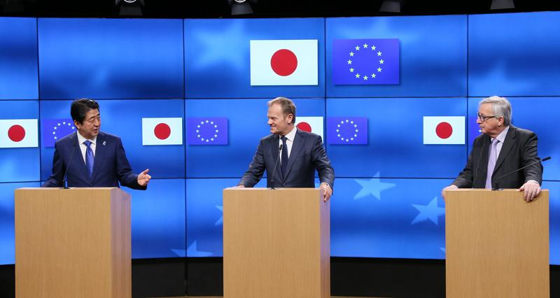 The EU-Japan EPA/SPA and the 'Abe Doctrine': Reinforcing Norms Globally, Changing them Domestically