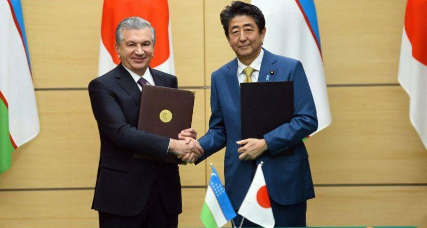 Note of Comment on the Visit of President Mirziyoyev to Japan