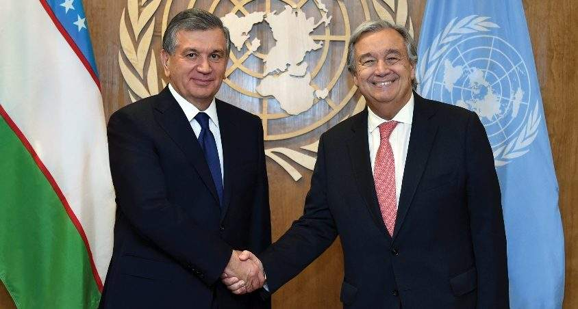Afghanistan, Aral Sea Raised as Priorities by President of Uzbekistan Shavkat Mirziyoyev at 75th Session of the United Nations General Assembly